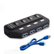 5Gbps High Speed 4-Port USB 3.0 HUB Splitter Extender Adapter mit Ein-/Aus-Schal