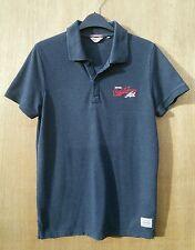 Jack & Jones size S blue/grey short sleeved polo shirt