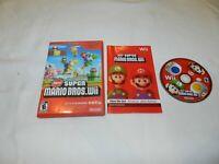 New Super Mario Bros. Wii Nintendo Wii Game Complete CIB