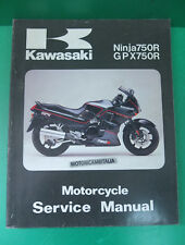 KAWASAKI Ninja ZX 750 gpx manuale d'officina riparazione owner's service manual