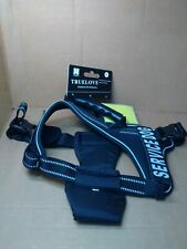141TL5 Truelove Service Dog Reflective Nylon Harness, XL, Black
