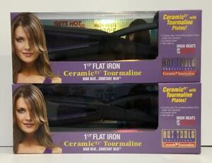 Hot Tools Professional 1 1/2 Flat Iron Ceramic TI Tourmaline Model 1199 SET OF 2