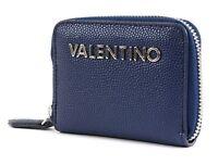 VALENTINO by Mario Valentino Divina Zip Around Wallet XS Geldbörse Blu Blau Neu