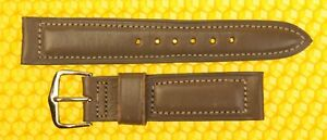 17mm Vintage OMEGA Padded Leather Watch Band Strap GRAY <NWoT>
