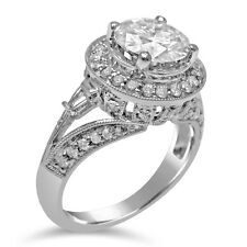 2.10CT FOREVER ONE Moissanite Engagement Ring With Diamond R169