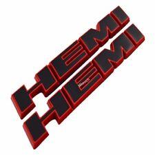 Red trim Black Slant HEMI Decal Side Emblem Badge Plate for Dodge Charger rt