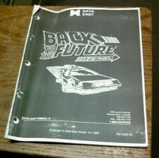 Data East Back To The Future Pinball Machine Manual-photocopy w/fold out drawing
