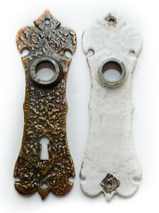 Mid-Century Antique Art-deco Silver Harmed Pair 2 Back Plate