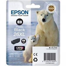 Genuine Epson T2631 Polar Bear 26XL PHOTO BLACK Ink Cartridge (C13T26314010)