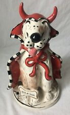 Blue Sky Clayworks Trick or Treat Devil Dog Votive Holder Heather Goldminc