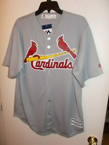 NWT Mens Large Majestic St Louis Cardinals Cool Base Jersey New $100