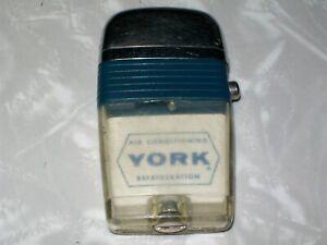 Vintage Scripto Vu Lighter.York Air Conditioning Refrigeration.Advertising.NR!