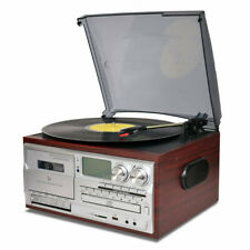 Record Player 9 in 1 Bluetooth Turntable Vinyl to Mp3 Cd Cassette Am/Fm Radio