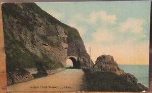 Irish Postcard BLACK CAVE TUNNEL Larne Antrim Coast Northern Ireland Signal Ser