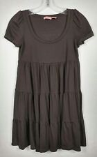 Juicy couture womens SZ P Tunic Dress Brown Short Sleeve