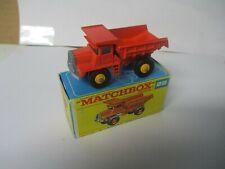 Matchbox Lesney Regular Wheels #28 Mack Dump Truck-- yellow wheels, F box
