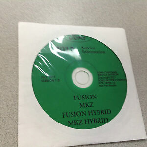 2012 Ford Fusion Híbrido Lincoln Mkz Híbrido Servicio Tienda Manual CD Nuevo
