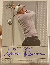 New listing Anna Rawson 2011 Leaf Golf Metal Autographs Golf Card #BAAR1