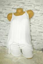 Italy Bluse Hängerchen Gr. 36 38 40 geflochtene Träger blogger Top weiß Shirt