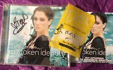 DELTA GOODREM SIGNED Mistaken Identity CD With RARE BACKSTAGE PASS 2005 AUS TOUR
