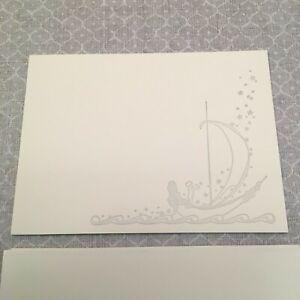 "SNOW & GRAHAM of Chicago Letterpress ""Baby in Boat"" Cards, Set Of 5 w/ Envelopes"