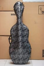 New CELLO 4/4 full size composite carbon fiber case with bow holders & straps