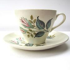 J&G MEAKIN SOL NIGHTCLUB Cup and Saucer Rosebuds Pink & Blue Vintage 1960s