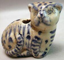 HOI AN FIGURE CERAMIC CAT LION FELINE PORCELAIN ARTIFACT BRUSH INKWELL ETHNIX