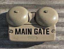 VINTAGE BELL SYSTEM WESTERN ELECTRIC PHONE RINGER MAIN GATE SECURITY ALARM OLD