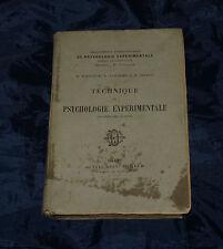 1904 PSICOLOGIA TECHNIQUE DE PSYCHOLOGIE EXPERIMENTALE LIBRO Dr TOULOUSE