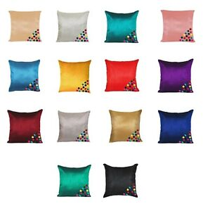 Home Decorative Dupion Silk Cushion Solid Pillow Throw Cover - Choose Size