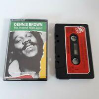 DENNIS BROWN THE PROPHET RIDES AGAIN CASSETTE TAPE 1983 RED PAPER LABEL A&M UK