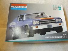 Vintage Model Kits-1970 Chevy Chevelle Ss454-Monogram-Partially Built-1/24