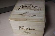 Very Rare Bella Union 2014 Cabernet Sauvignon Wood Wine Box or Crate Napa Valley