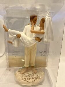 Lillian Rose Wedding JUST MARRIED Cake Topper Resin Figurine New in Packages