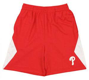 Outerstuff MLB Baseball Youth Philadelphia Phillies Athletic Shorts, Red