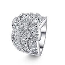 Women Lady Ring Natual Zircon Rhinestones Ring Size 6-10 Fashion New Engagement