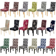 1/4/6Pcs Printed Dining Room Chair Covers Slipcover Wedding Party Seat Protector