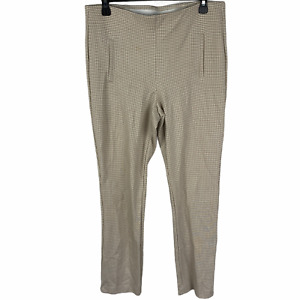 Chico's Stretchy Houndstooth Pull on Pants size 0.5 Beige/White