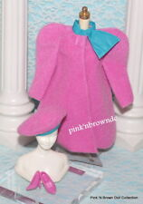 Barbie Pink Winter Easy On Wrap Hat Shoes Fashion Set