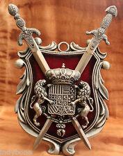Mittelalterliches Wappenschild mit Schwertern, Dekoration, Ritter, Rüstung
