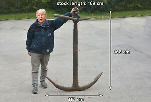 boat anchor vintage iron boat ship anchor old fisherman's large anchor 168 cm