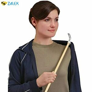 DMI Wood Dressing Stick with Metal and Vinyl Hooks, Lightweight Aid for Dressing