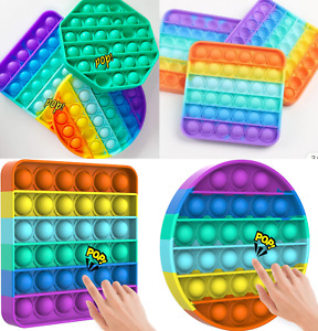 Pop its Fidget Toy Push Bubble Sensory Stress relief Kids tiktok Family games