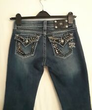 women's Miss Me Easy Boot Ultra Low 5 Pocket Bling Jeans size 25