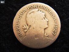 1927 Portugal  Liberty 1 Escudos in worn grade