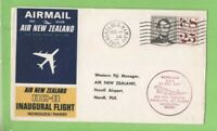 U.S.A. 1965 Air New Zealand DC-8 Flight cover, Honolulu to Nandi Fiji