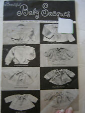 1964 Vintage Baby Sacque Sweater Cardigan Knit Pattern Booklet 8 Designs 6 - 18