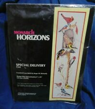 MONARCH HORIZONS COUNTED  CROSS STITCH KIT - SPECIAL DELIVERY - BIRDS MAILBOX
