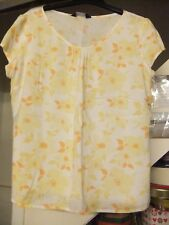 Dorothy Perkins Summer Top Yellow Floral Size 16